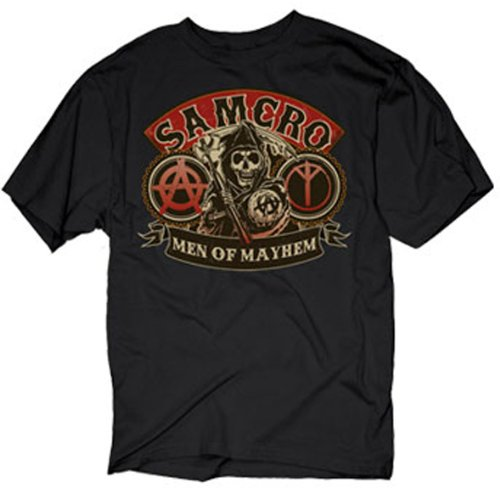 Black Sons of Anarchy Men Of Mayhem T-shirt XX-Large
