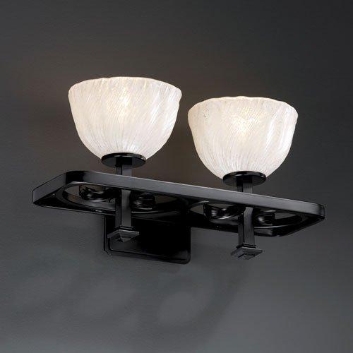 Justice Design Group FSN-8573-20-WEVE-DBRZ Fusion Collection Victoria 3-Light Bath Bar