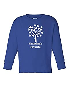 Fat Doxie - Grandma's Favorite - Long Sleeve Toddler T-Shirt 5T/6T Royal Blue