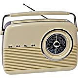 Bush Portable Radio with Analogue FM/MW/LW tuner - Cream