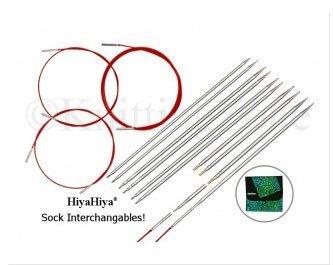 Hiya-Hiya Sharp Steel Interchangeable Sock Knitting Needles and Accessories