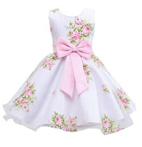 [Kids Showtime Little Girl Special Occasion Cotton Flower Dress(Pink,5-6Y)] (Bond Girl Fancy Dress Costumes)