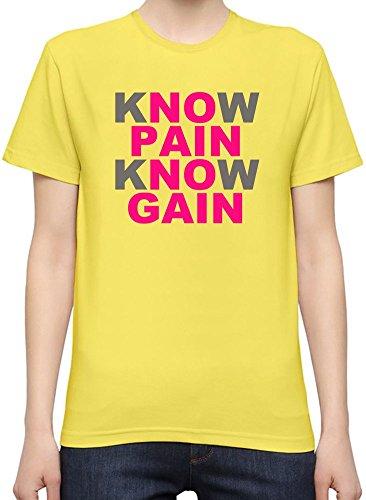 Know Pain No Gain Slogan T-Shirt per Donne XX-Large