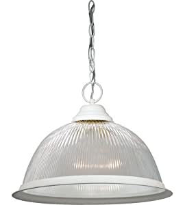 Satco One Light Prismatic Dome Textured White - 76448