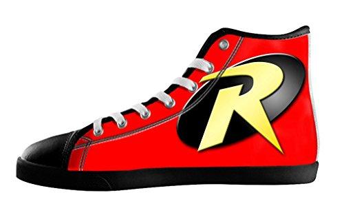 Movie Batman & Robin logo Men's High Top Fashion Canvas Shoes-9M(US) (Batman And Robin Shoes)
