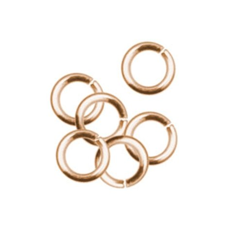 50pc 4mm Open Jump Ring   Rose Gold Plate