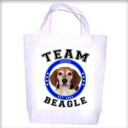 Beagle TEAM Shopping - Dog Toy - Tote Bag