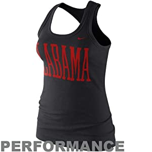 Alabama Crimson Tide Nike Ladies Active Performance Tank Top - Black (MED) from Nike