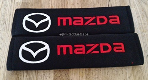 2-x-seat-belt-shoulder-cover-pads-for-mazda-complete-with-badge-detail-all-models-mazda-2-3-6-cx-3-c