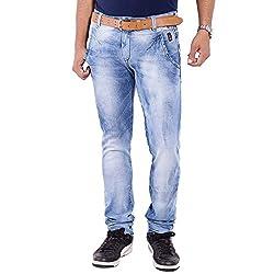 URBAN FAITH Blue Designer Jeans for Men's