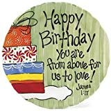 Happy Birthday Inspirational Plate Green Gifts Ceramic