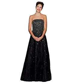 Formal Evening Gown. Aline Black Ball Gown Dress for Prom, Party, Wedding by Sean Collection (133)