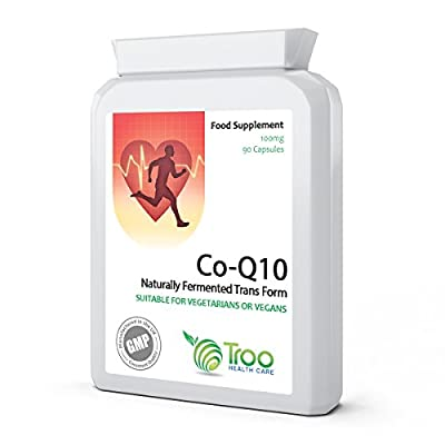 Co-Enzyme Q10 (CoQ10) 100mg 90 Vegetarian Capsules - Fast Release High Absorption - UK Manufactured GMP Quality Assured Co-Q-10 Supplement - Supports Energy Production, Healthy Heart Function and Replenishes Coenzyme Q10 Levels