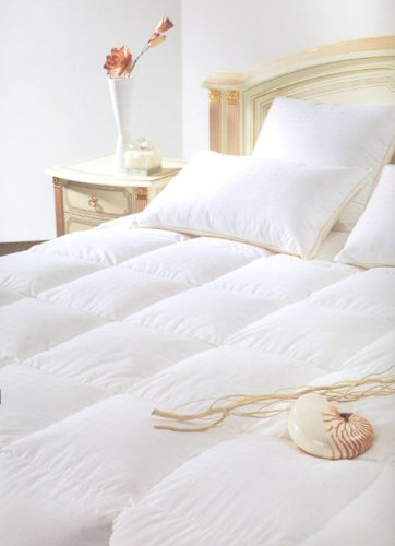 Natural Comfort Classic White Goose Down Feather Comforter, Queen