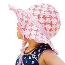 Millymook Baby Girls Reversible Cotton Evie Pink Floppy Sun Hat UPF50+ (0-12 Months)