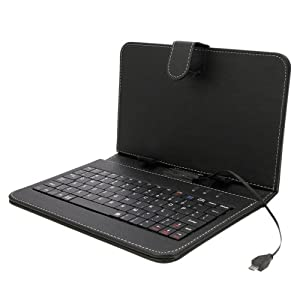 7インチ専用 タブレットキーボード付ケース サイズ調整機能付 (microUSB 端子)
