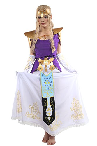 Fancy Princess Cosplay Dress Skirt Outfit Suit for Women Halloween Costume