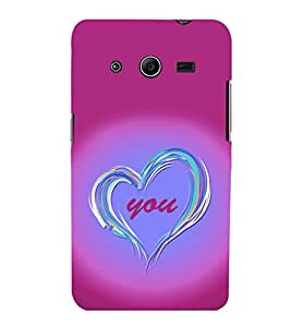 printtech Love You Back Case Cover for Samsung Galaxy Core 2 G355H
