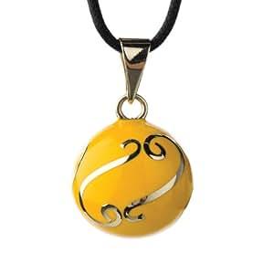 Babylonia Bola jaune avec volutes argentés