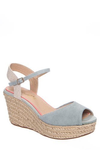 Ganes Jute Wrapped High Wedge Ankle Strap Sandal
