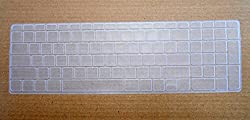 Buy 1, Get 1 Yashi Laptop Keyboard Protector Cover Transparent Silicone rubber for HP Pavilion 15-P001TX, 15-N204TX, 15-P028TX, 15-R015TU, 15-N208TX, 15-P027TX, 15-B055CA, 15-N011TX, 15-N205TX (Please check the compatibility in the fourth image)