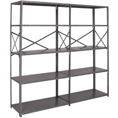 Quantum Heavy-Duty 20-Gauge Industrial Steel Shelving - 6 Shelves, 48in.W x 30in.D x 87in.H, Model# 20G-87-3048-6 bx120 2ca steel strain gauge and steel strain gauge
