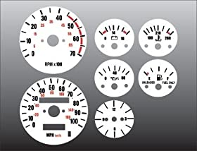 1987-1991 Jeep Wrangler White Face Gauges