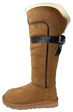 UGG Australia Women's Genevieve Boots,Chestnut,US 11 US