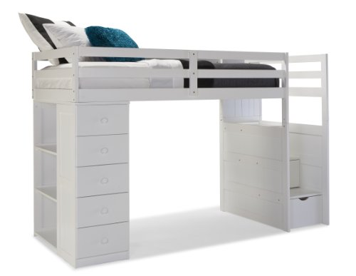Get canwood mountaineer loft bed with storage tower and built in stairs drawers at repo - Loft bed with drawer stairs ...