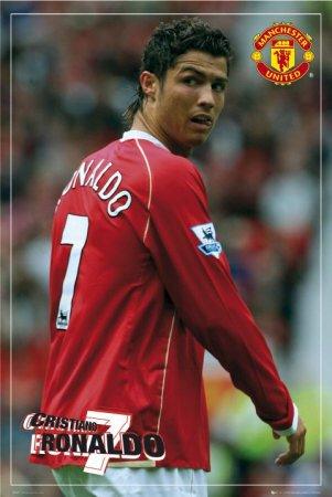 Manchester United Ronaldo Sports Poster