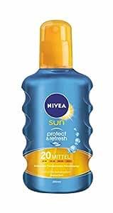 Nivea Sun Protect & Refresh Kühlendes Transparentes Sonnenspray LSF 20, 1er Pack (1 x 200 ml)