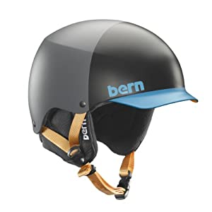 Bern Men's Baker EPS Hatstyle with Black Liner Helmet - Grey/Blue, Small/Medium (Old Version)