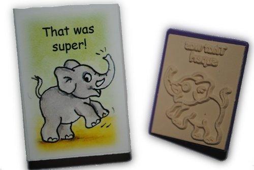 """Lehrerstempel STEMPEL englisch """" That was super ! """" (Das war super) Elefant"""