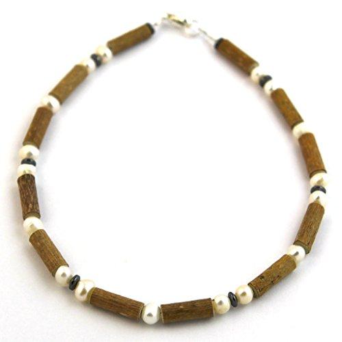 """Hazelaid (TM) Child Hazelwood-Gemstone Necklace - 13.5"""" Freshwater Pearl"""