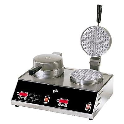 "Star SWB7R2E 7"" 2-Burner Round Belgian Waffle Baker by Star Manufacturing"