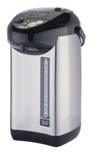 Discover Bargain Pro Chef PC8100 5-Quart Hot Water urn, with Auto & Manuel Water Dispenser, Stainles...