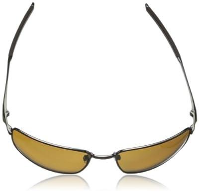 Oakley Square Wire Polarized Iridium Rectangular Sunglasses