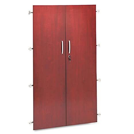 Tiffany Industries VC68WCRY 36 by 68-Inch Wall Storage Hutch Bookcase Cabinet Doors, Sierra Cherry
