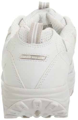 Skechers Women's Shape Ups Metabolize Fitness Work Out Sneaker,White/Silver,8 M US