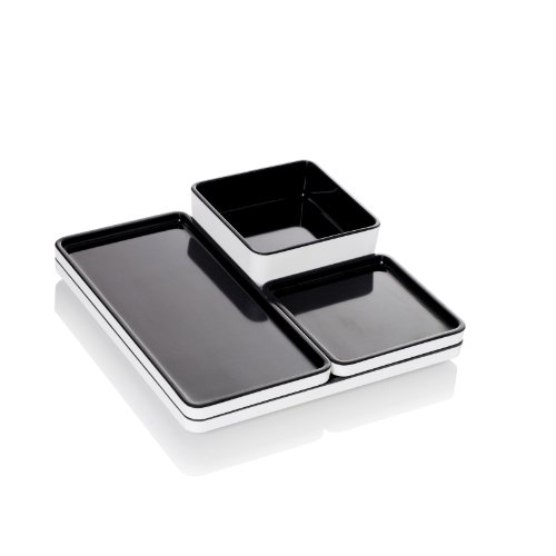 Pantone Universe Food Tray, 4-Piece, Anthracite