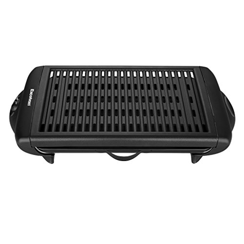 Excelvan Indoor Electric Classic Plate Barbecue Grill Adjustable Temperature Easy Clean, 1120W, Black, 20 x 10 x 4 Inch (Indoor Grill Searing compare prices)