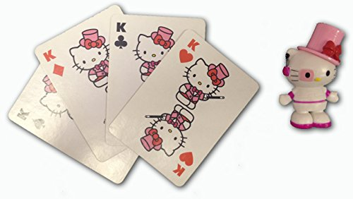 Hello Kitty Magic Disappearing Kings Magic Card Trick Super Cute Collectible Figurine - 1