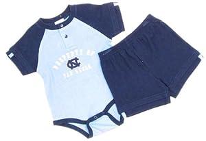 North Carolina Tar Heels Newborn Infant Creeper & Shorts by NCAA-Kids