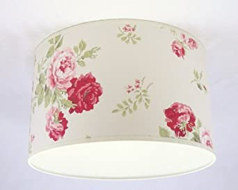 """8"""" Lampshade Handmade in UK - Cath Kidston Antique Rose Bouquet Wallpaper"""