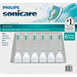 Philips Sonicare Toothbrush e Series Heads Fits: Advance, Clean Care, Elite, Essence, Xtreme – 6 Pack by American Health & Wellness