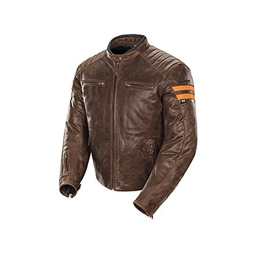 Joe Rocket Classic '92 Men's Leather On-Road Motorcycle Jacket - Brown/Orange / Large (Joe Rocket Classic 92 compare prices)