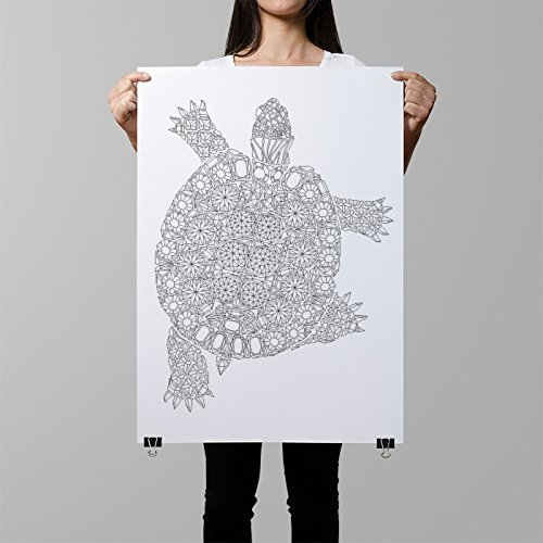 diamonds-turtle-coloring-poster-giant-coloring-page-turtle-coloring-wall-art-diy-home-decor-turtle-i