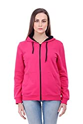 Bonhomie Women Sweatshirts [BCQSO35_Fuchsia_Extra Small]