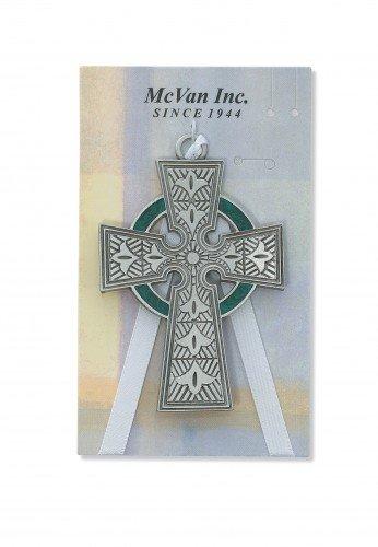 Pewter Celtic Crib Cross for Babies