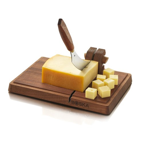 Boska Holland Mahogany Dutch Cheese Board And Knife Set